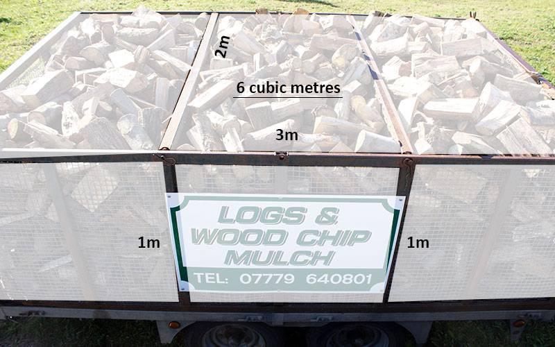 Hardwood logs 6 cubic metres