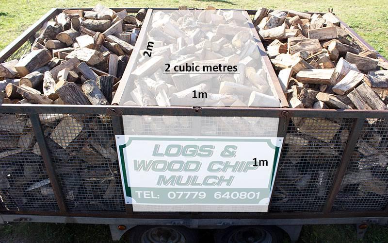 Hardwood logs 2 cubic metres